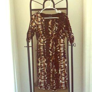 En Focus Studio leopard print dress.